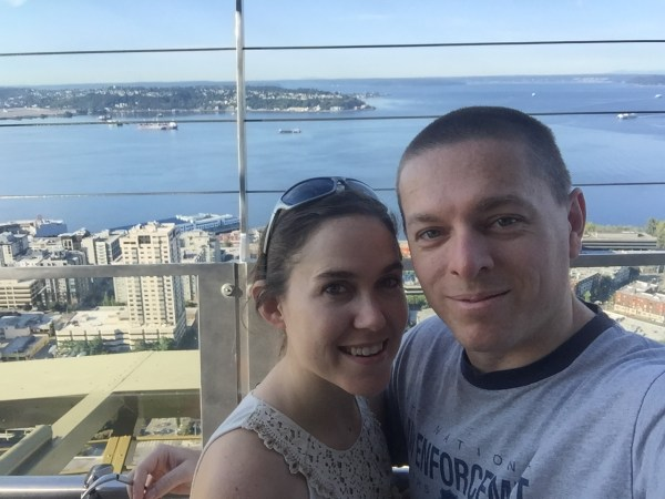 couple at space needle