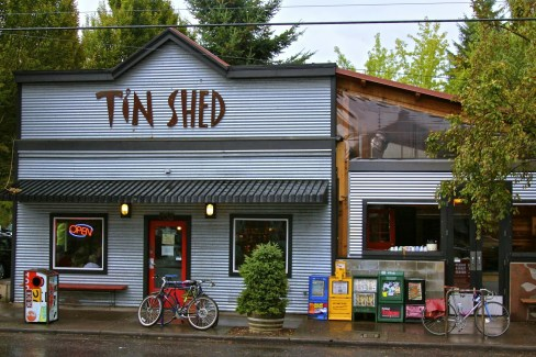 tin shed portland oregon for fantastic food at a great price.