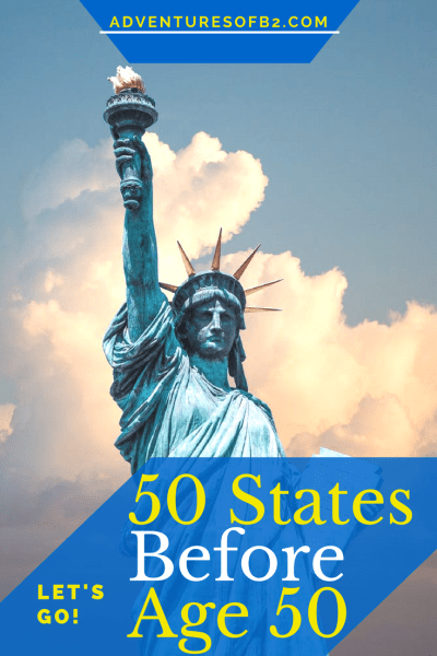 A bucket list challenge to visit 50 states before the age of 50. Are you up for the challenge? #50before50 #ustravel #bucketlist #travelchallenge