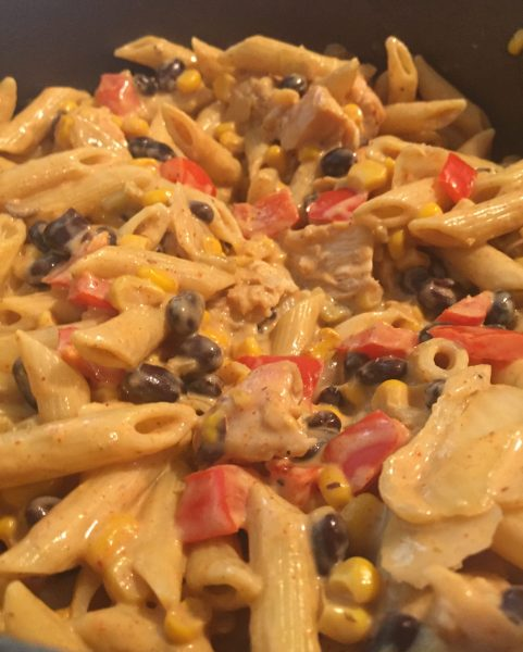 Southwest Chicken pasta - A quick one pot meal that is a perfect dinner for busy weeknights.