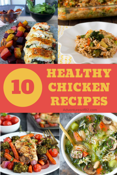 10 healthy chicken recipes that are super easy to make. #dinnerrecipes #healthymeals #healthyrecipes #chicken