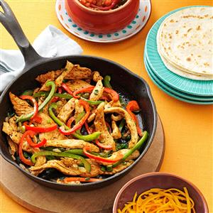 flavorful chicken fajitas from taste of home