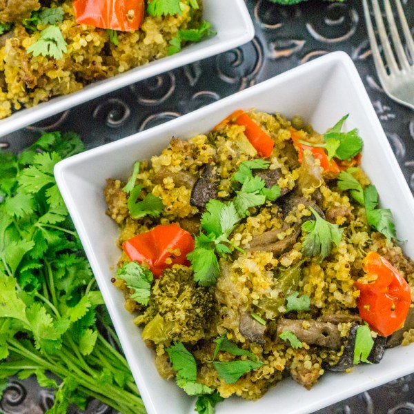 Instant-Pot-Quinoa-with-Sausage-and-vegetables from babaganosh
