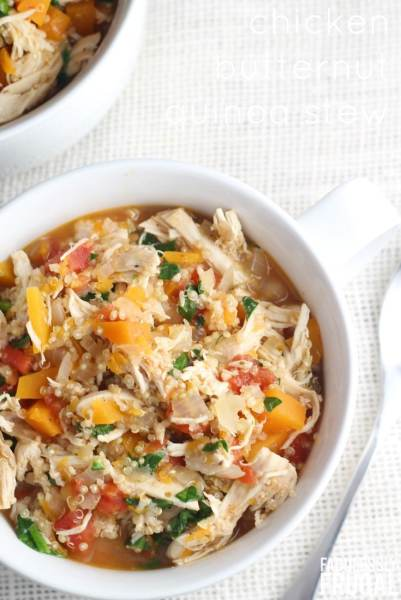 delicious-easy-chicken-butternut-squash-quinoa-stew-recipe from fabulessly frugal