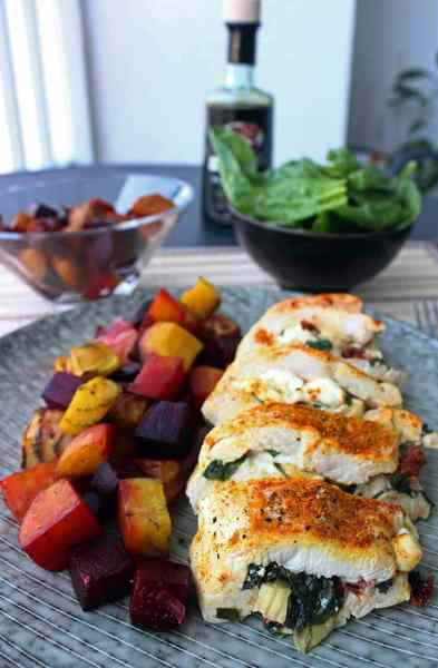 healthy stuffed chicken breast- diabetes strong