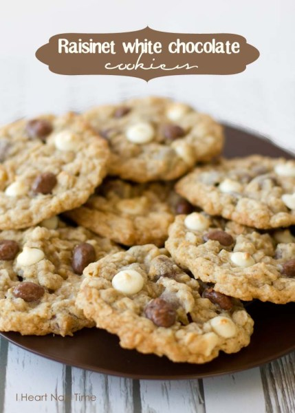 raisinet white chocolate cookie- i heart naptime