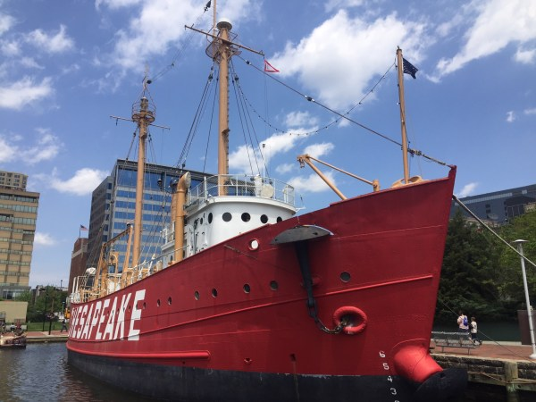 Chesapeake lighship is one of four historical ships to explore in Baltimore maryland