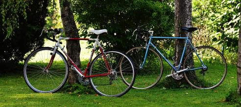 bike riding is a great active date for you and your spouse. You can rent them in most major cities or borrow some from friends.