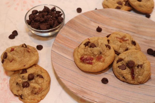 Candied Bacon chocolate chip cookies are your two favorite things in one! A nice balance of sweet with just a pinch of salty, this delicious cookie will surely become a favorite in your household.