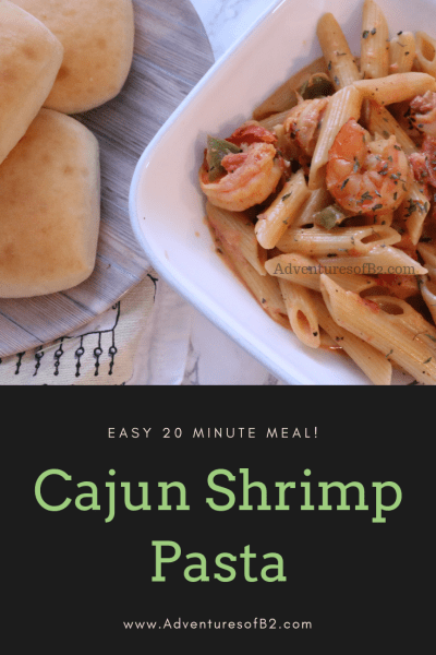 Easy Cajun Shrimp Pasta. Make this quick easy meal in under 20 minutes for a delicious weeknight meal.