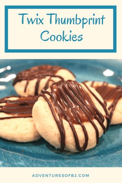 These soft delicious thumbprint cookies taste just like a twix candy bar. With a soft buttery shortbread cookie filled with salted caramel sauce and drizzle with chocolate, this cookie will be one of your favorite cookie recipes.