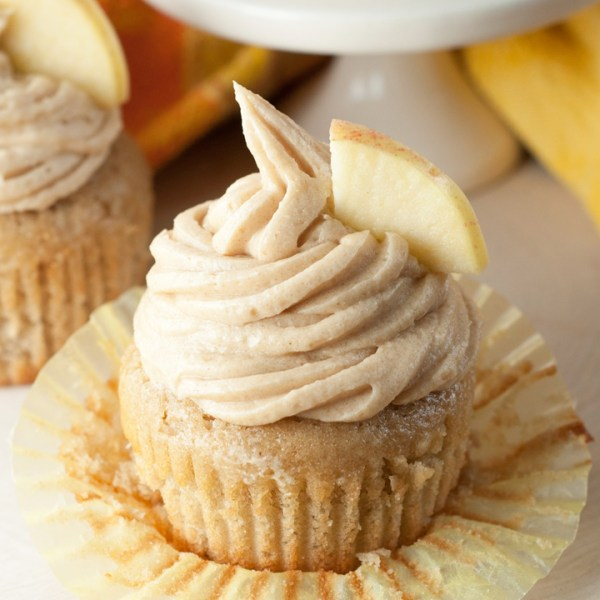 Apple-Cider-Cupcakes-and-Brown-Sugar-Cinnamon-Buttercream-Frosting-Recipe from wishes n dishes