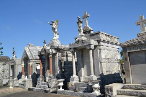 new orleans cemetery are amazing sites to see. Since New Orleans is below sea level, they cannot bury their loved ones underground, they must be buried above.