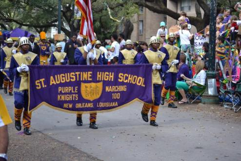 St. Aug band is one of the best bands to perform at Mardi Gras in New Orleans. Known as the marching 100, see how they pump of the crowd with their music and dance. Learn more about Mardi gras with this FREE guide.
