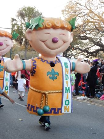 Endymion dolls start the procession of one of the biggest parades in New Orleans. Find out more about mardi gras with my free guide for surviving mardi gras. - adventuresofb2.com