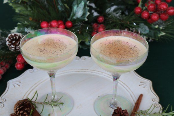 Celebrate Christmas with this classic holiday recipe! This eggnog cocktail combines all the flavors of eggnog, amaretto, and vodka for a delicious dessert martini