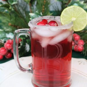 A twist on your favorite margarita! Cranberry margaritas will make your Christmas party merry and bright with this delicious cocktail