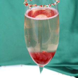 Cranberry ombre sparkler is a fantastic holiday cocktail that is perfect for ringing the new year. Drink this at valentines day for a romantic night with your partner!