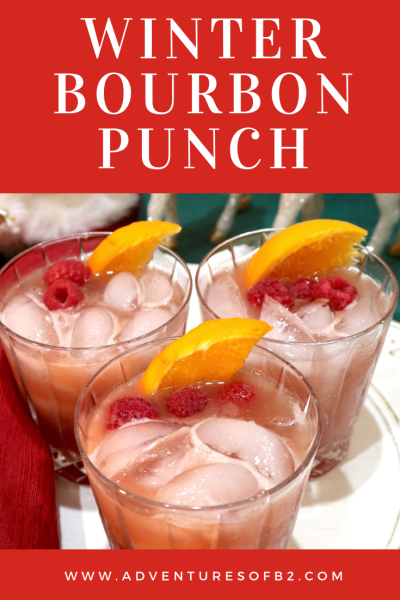 Bring in the new year with this delightfully fruity cocktail! A delicious combination of whiskey with raspberry and orange flavors perfect for sipping at a party with friends! #holidaycocktail #wintercocktail #whiskey #bourbon