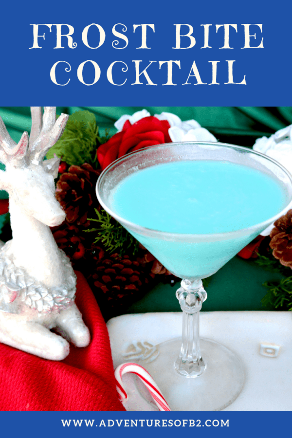 frost bite cocktail is as delicious as it is pretty. A creamy dessert cocktail with a bit of a bite. This christmas drink will definitely get your guests into the christmas spirit! #christmascocktails #tequila #holidaydrinks #cocktails