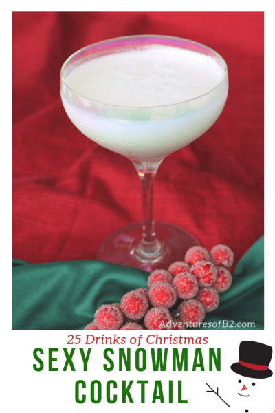 sexy snowman Cocktail is a fantastic winter cocktail that's so easy to make with only 3 ingredients! Day 11 on 25 drinks of Christmas and it is one of the best cocktails yet! #holidaycocktails #christmasdrinks