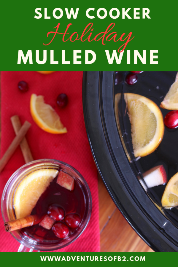 Spread Christmas cheer with a slow cooker mulled wine recipe! This cocktail recipe is full of fruits and spices that are so flavorful! It'll put a smile to all your party guests' faces. #mulledwine #sangria #christmascocktails