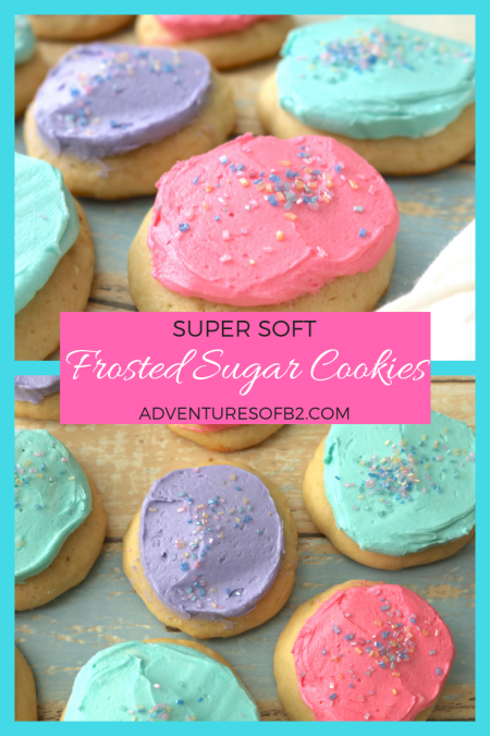 super soft frosted sugar cookies tastes just like lofthouse with a soft fluffy sugar cookie topped with delicious sweet buttercream. A tasty treat for any occasion! #sugarcookie #frostedsugarcookie #lofthouse #cookierecipe