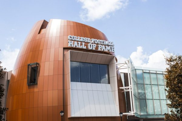 College Hall of Fame via football scoop is one of the top attractions to visit in atlanta georgia! See other amazing things to see, eat and do in Atlanta at adventuresofb2.com