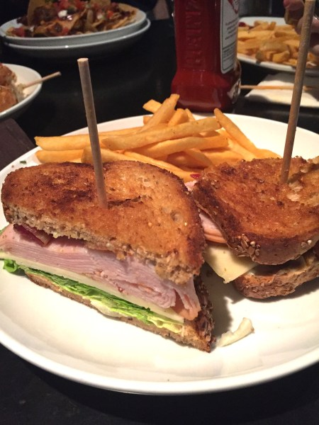 A delicious turkey sandwich from Stats Pub in Atlanta. One fantastic place in Atlanta to eat and enjoy company of friends and sports. - Adventuresofb2
