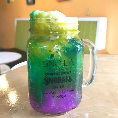sno-la snowballs are the home of the original cheesecake stuffed snowballs. They are delicious, over the top and perfect for any date night! -Adventuresofb2.com