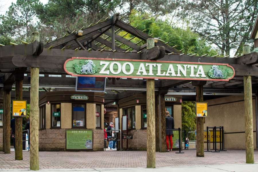 Your adventure starts here at the entrance of the zoo atlanta. Learn in-depth about tons of different animals including your favorites. For more great attractions, visit adventuresofb2.com - photo via zoo atlanta