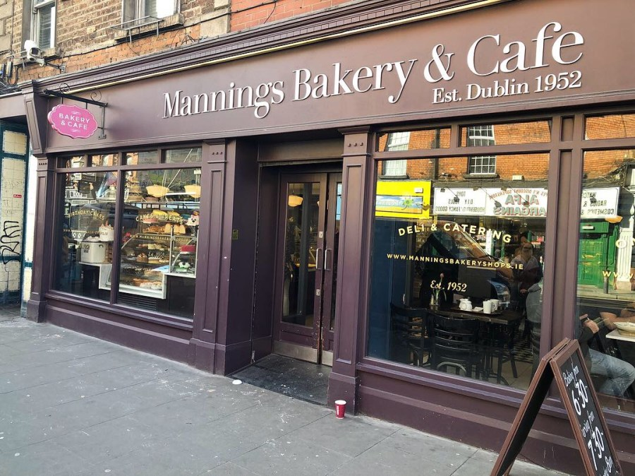 Manning's bakery in Dublin is a great place to grab some lunch. A quaint cozy cafe with sandwiches and wraps. Don't forget to grab a dessert on the way out in their bakery. - Adventuresofb2.com