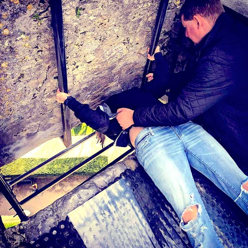 Grab some good luck when you lean over backwards and kiss the Blarney Stone in Ireland. A must see stop on your Ireland road trip itinerary- Adventuresofb2.com