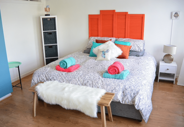 This cute modern Airbnb apartment is located in Galway Ireland. A fantastic space with little pops of color. Located in the heart of the city, it's the perfect stop along our road trip through Ireland- Adventuresofb2.com