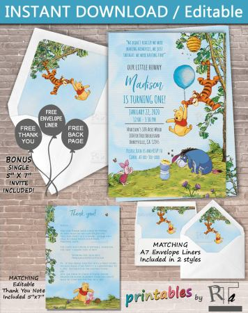 Find the perfect winnie the pooh invitation to go with your winnie the pooh donuts off etsy! Get all ideas for all things winnie the pooh at adventuresofb2.com