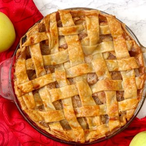 This classic apple pie is made with an easy golden, flaky lattice crust and a brown sugar, cinnamon-spiced apple filling. An all-time favorite, you'll want to commit this Fall treat to memory because it's certainly a crowd pleaser!