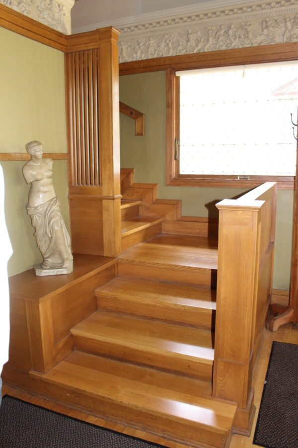 The Staircase ~. Home Of Frank Lloyd Wright