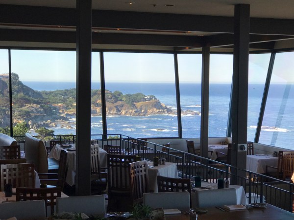 The spectacular views from the restaurant at The Hyatt Carmel Highlands.
