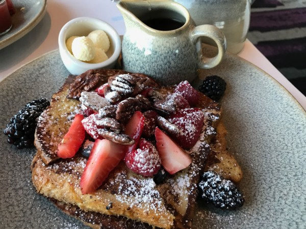 The french toast at The Carmel Highlands Inn is fantastic!