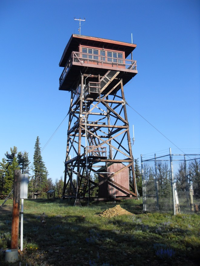 The ranger tower on Porphyry Peak, MT
