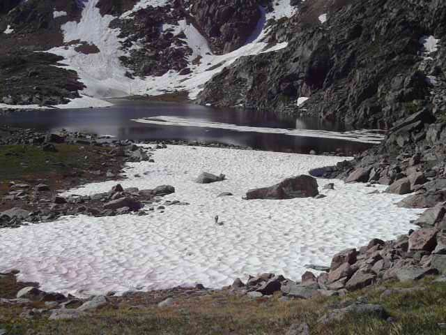 Unnamed Lake NE of Heart Lake, Beartooth Mountains, 7-14-14