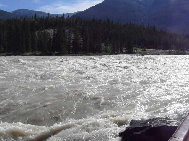 Just above Athabasca Falls.