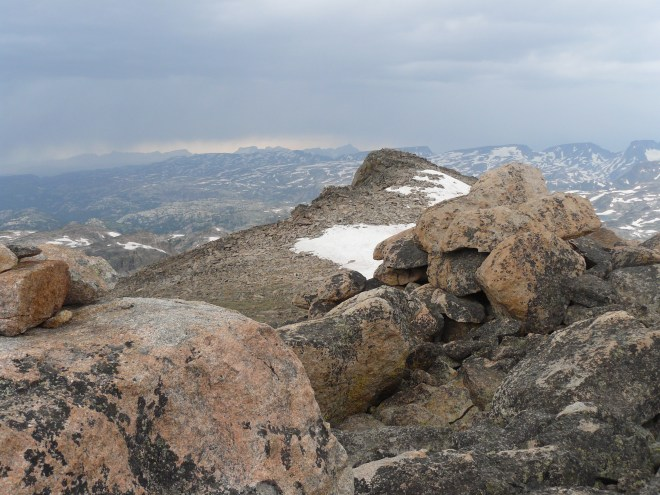 The NW high point of Lonesome Mountain is seen in the distance and may be nominally higher than the high point Lupe climbed.