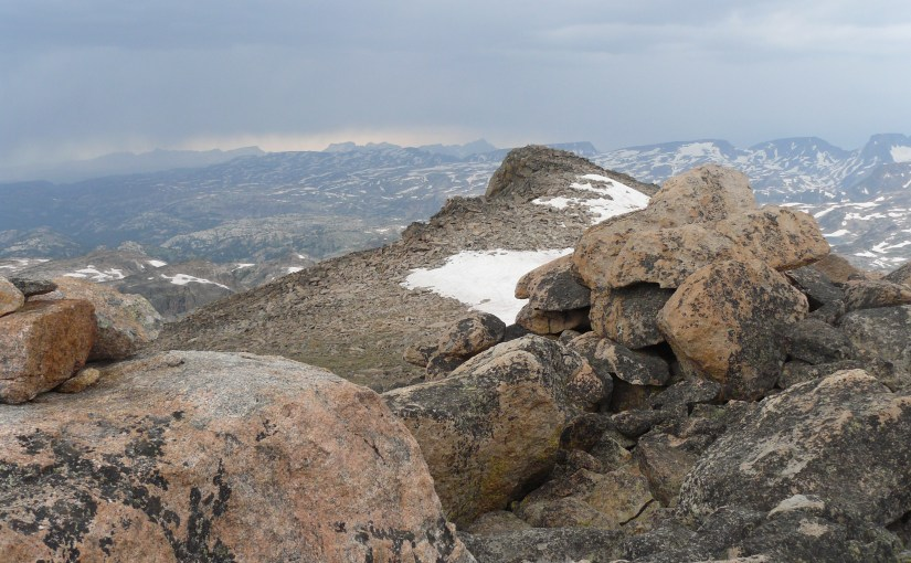 Lonesome Mountain in the Beartooth Mountains of Montana (8-3-14)