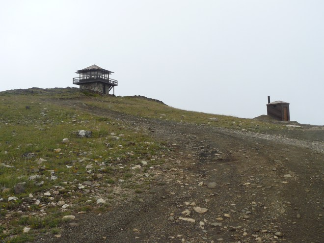 The lookout tower at the top of Sheep Mountain.
