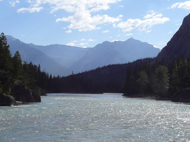 Bow River downstream of Bow River Falls 7-21-13