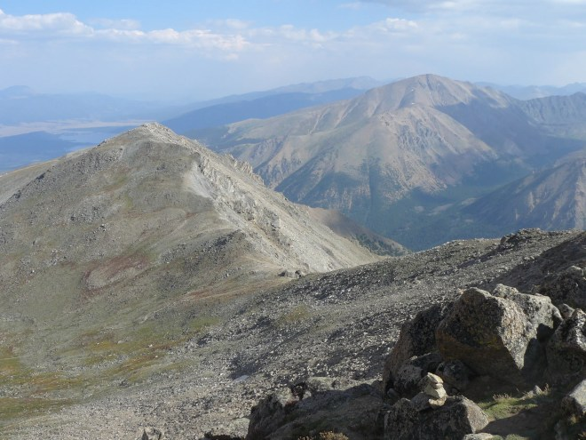 Mount Massive - Southeast Peak (L) and Mount Elbert (R).