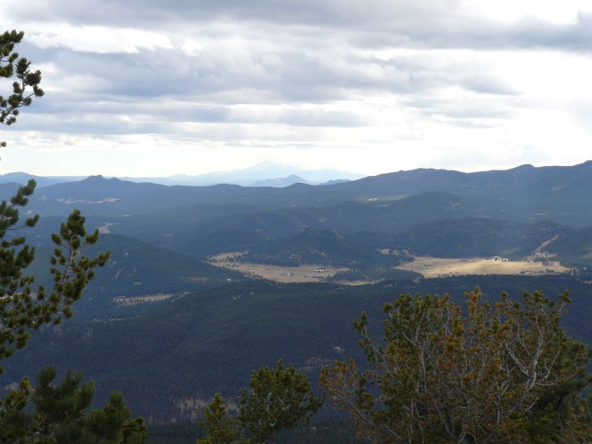 Pikes Peak could be seen faintly on the horizon to the S.