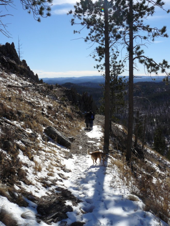 Heading down Custer Peak, 11-23-15