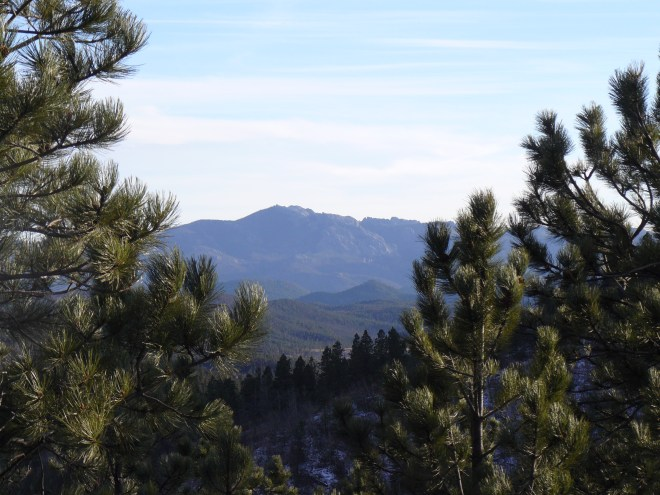 Looking S toward Harney Peak.